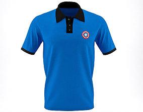 Men Polo T-Shirt 3D model