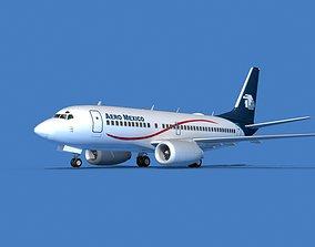 Boeing 737 MAX 7 Aero Mexico 3D model
