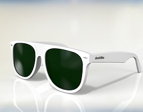 Flattop wayfarer sunglasses 3D model