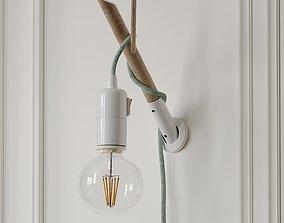 3D model Handmade Wooden Lamp by ETSY