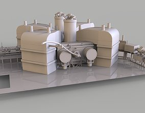 Particle Accelerator separated sector cyclotron 3D asset