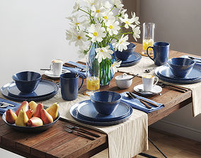 Tableware set by Crate and Barrel Mercer 3D model