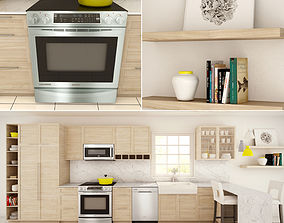 Family Kitchen Set 02 3D model