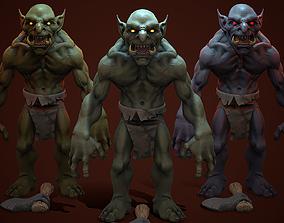 3D asset Troll Berserker
