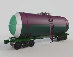 3D Railroad Tank Car