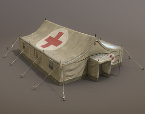 Military Tent 01 MedicalDesert 3D model