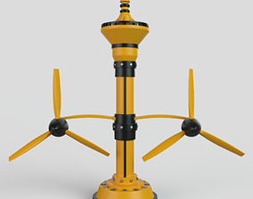 3D model Hydroelectric power generator