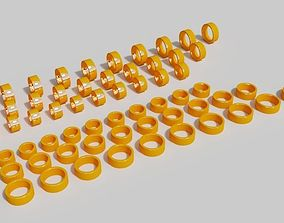 8mm with golden rings 3D print model