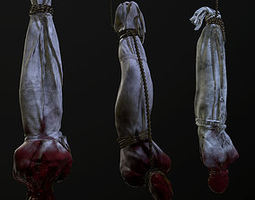 Cloth corpse 3D model low-poly