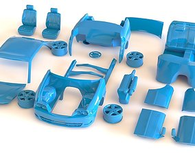 Toyota Chaser JZX100 blueprint kit 3D printable model
