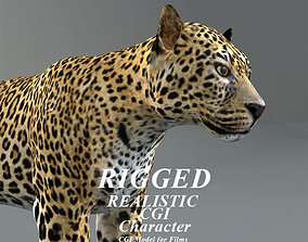 3D model High Detailed Photorealistic CGI leopard rig