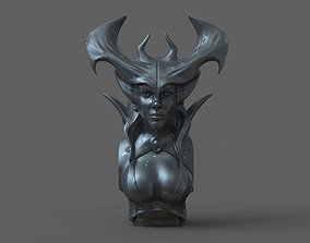 3D printable model Devil Woman Bust