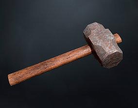 industrial 3D model game-ready PBR Hammer