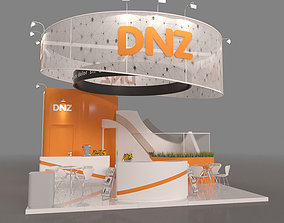 6x6 Island Exhibition Stand 3D model