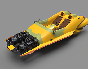 3D printable model Star Wars Anakin speeder