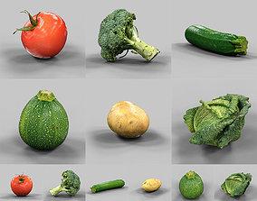 3D model 6 Vegetables
