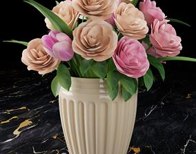 Vase with flowers potplant 3D model