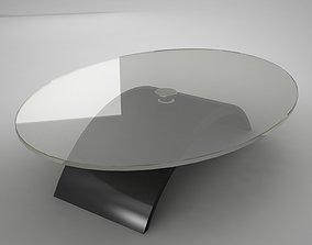 3D asset glass coffe table