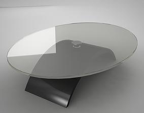 glass coffe table 3D asset