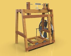 TREADLE LATHE MACHINE WOODWORKING 3D