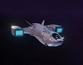 3D asset realtime Space Fighter