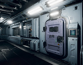 3D model low-poly Sci-Fi Facility Sector 43