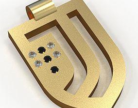 3D print model Juventus pendant 7 gems