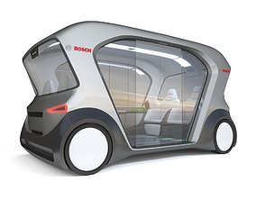Electric Bosch IoT Shuttle with Interior 3D