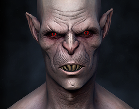 Vampire Nosferatu bust monster 3D print model