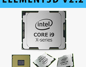 E3D - Intel Core i9 X-series Processor 3D model 3D