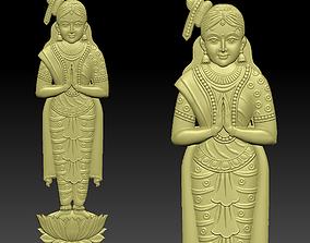 3D printable model a praying lady