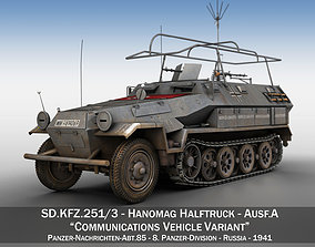 SDKFZ 251 3 Ausf A - Communications Vehicle - 8 PD 3D