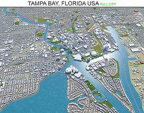 3D model Tampa Bay Florida USA 90km