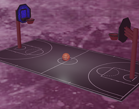 game Basketball court 3D model VR / AR ready