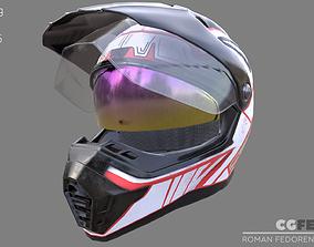 MOTOCROSS HELMET 4K 3D model