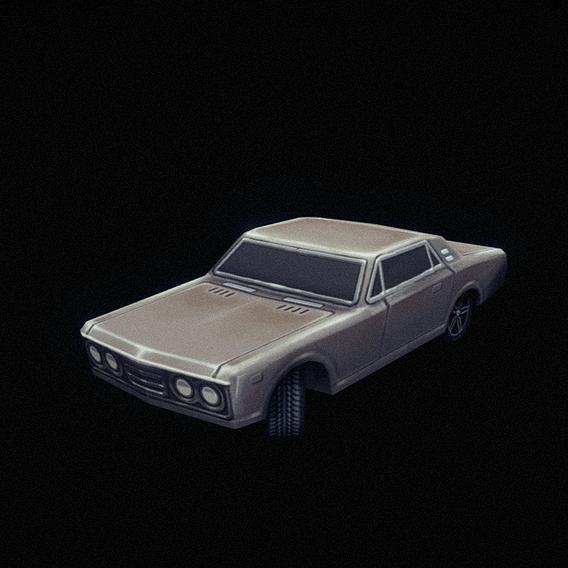 Vehicle_01 - handpainted lowpoly 3d model