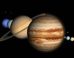 Solar System 3D asset
