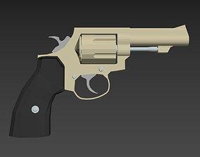 Revolver Gun Model 3DS MAX File 3D Print