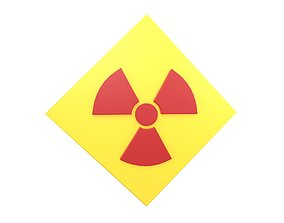 Radiation Symbol v3 002 3D asset