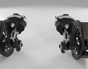 3D model Highly detailed pair of front truck brakes