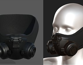 3D model Gas mask helmet scifi fantasy armor hats 1