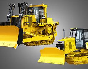3D model cat Bulldozer - 2 in 1