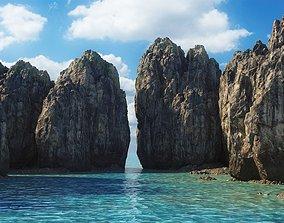 3D asset Rock islands