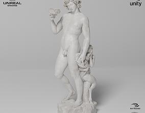 Bacchus Michelangelo Sculpture VR AR Mobile-ready 3D asset