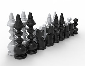 Chess pieces 3D model realtime