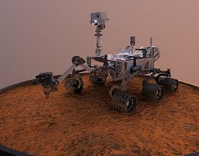 3D asset realtime Curiosity - Mars Rover