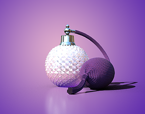 3D Perfume Balloon Pump Bottle model