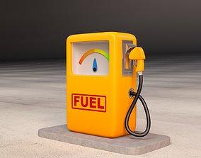 trip 3D model Cartoon Gas Pump