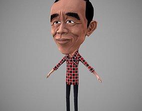 Jokowi 3D asset