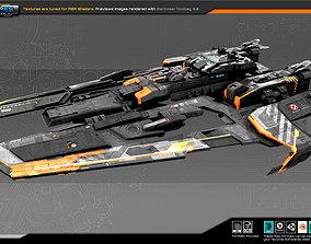 FEDERATION Frigate GX7 3D asset VR / AR ready